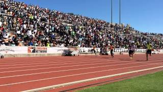 TCU 100 Meters Ronnie Baker Charles Silmon 15 Texas Relays