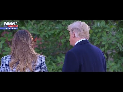 WATCH: President Trump and Melania Trump in Pittsburgh