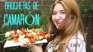BROCHETAS DE CAMARÓN A LA PARRILLA ¡DELICIOSAS! (RÁPIDO) Thumbnail