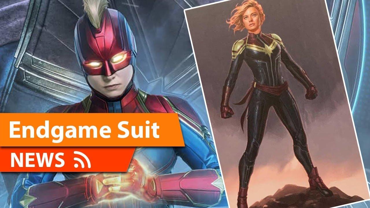 Avengers Endgame Captain Marvel Costume Possibly Revealed Youtube The best captain marvel costume ideas & shirts. avengers endgame captain marvel costume possibly revealed
