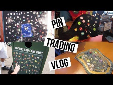 PIN TRADING AT DISNEY! + Opening Mystery Packs