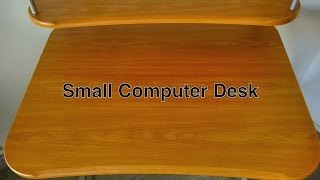 Small Computer Desk With Hutch In Compact Modern Style Made Of Metal & Wood For Home Office / Gaming