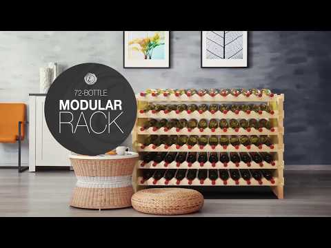 Piece Together A 72-Bottle Wine Rack In Just A Few Minutes.