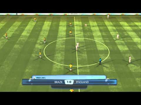 FIFA WORLD CUP BRAZIL 2014  Brazil X England FULL MATCH GAMEPLAY HD