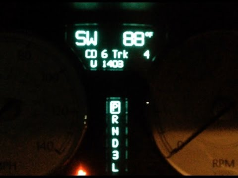 Read Trouble Codes On Instrument Cluster (Chrysler 300)