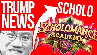 SCHOLOMANCE ACADEMY! New Expansion! | Trump News | Hearthstone