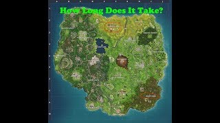 How long does it take to cross the Fortnite Battle Royale map? [ Anarchy Acres To Moisty Mire ]