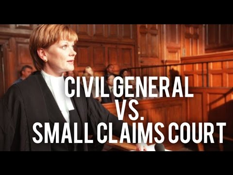 Small Claims Vs. Civil General Lawsuits (All Canada)