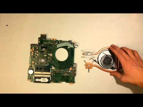 HP pavilion 15-p047nl - Fan CPU cleaning & Thermal Paste Replacement