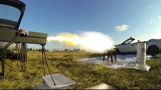 250 lb Railgun vs. 10 x Fine China Plates- Launches #9 & #10