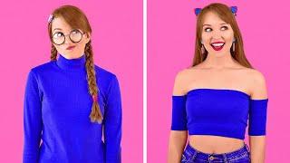 HAVALI KENDİN YAP GİYSİ TÜYOLARI || 123 GO! Kızlar İçin Giysi Dönüştürme Fikirleri