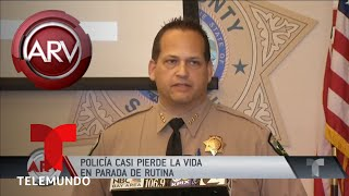 Sospechoso disparó a quemarropa a una policía | Al Rojo Vivo | Telemundo