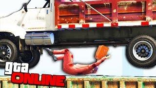 НЕРЕАЛЬНАЯ СМЕРТЬ ОТ ПАДЕНИЯ ГРУЗОВИКА НА ТРОПЕ СМЕРТИ В GTA 5 ONLINE ( УГАР, DEATH RUN )