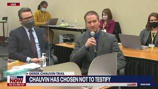 BREAKING: Derek Chauvin will not testify in his own defense   NewsNOW from FOX
