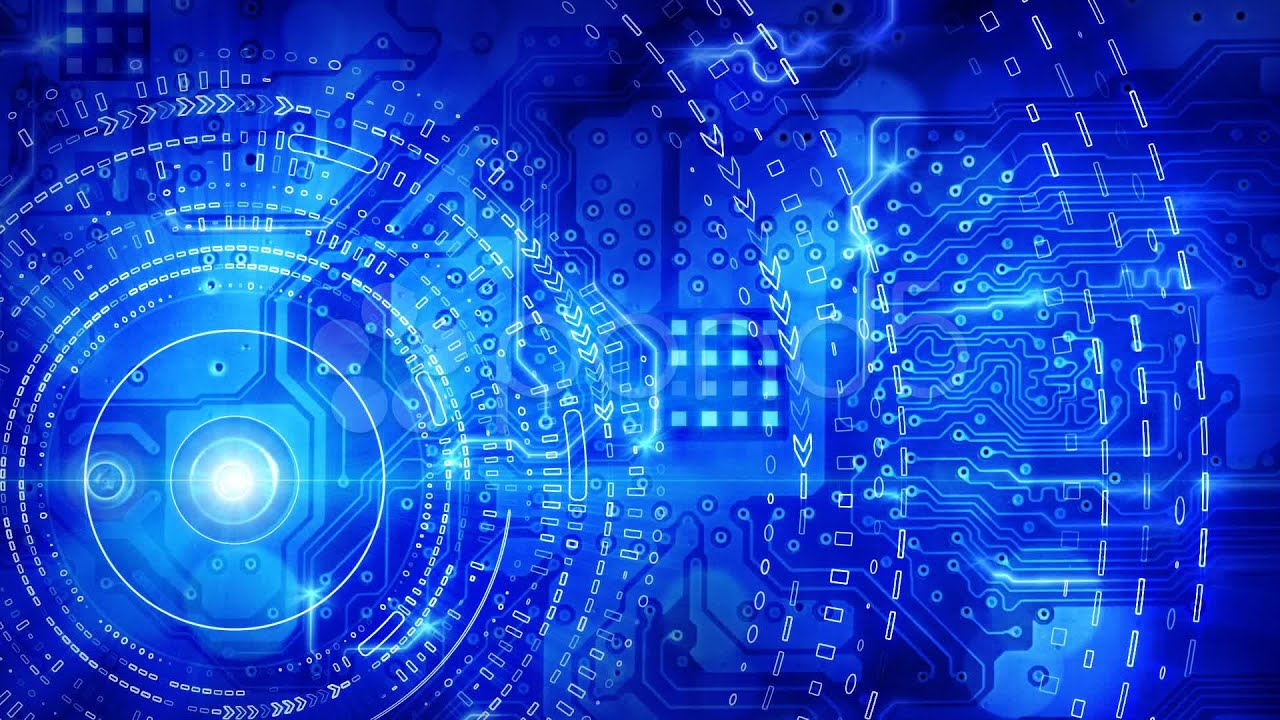Blue Computer Circuit Board Background Loop. Stock Footage ...