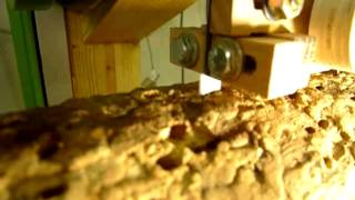 Baumueller's Wooden Bandsaw, With Sawmill Attachment