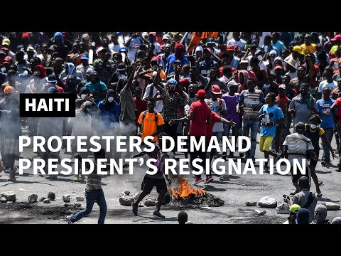 Haiti: Protesters take to the streets of the capital Port-au-Prince   AFP
