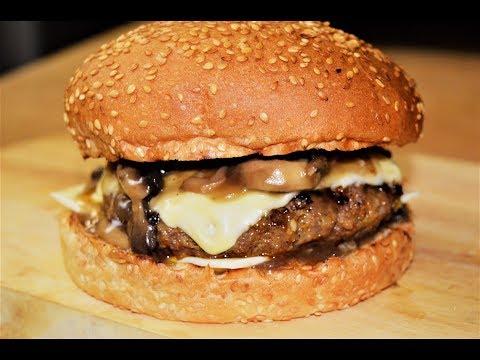 سويس برجر بصلصة الفطر  /شيف احمد\Swiss And Mushroom Burger