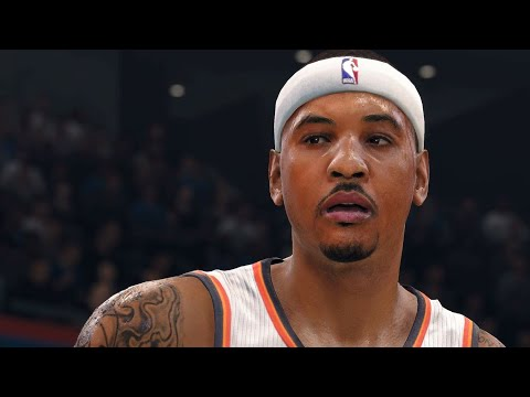 NBA LIVE 18 - Carmelo Anthony's 1st Game w/ OKC vs NY Knicks - Thunder Season Debut - 1st Half - HD