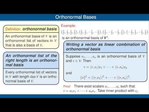 Orthonormal Bases
