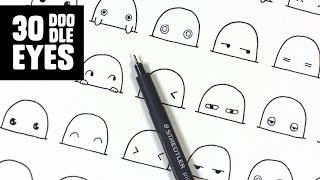 30 Cute / Kawaii Eyes to Doodle