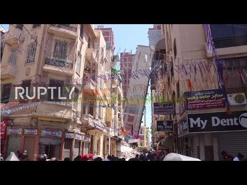 Egypt: Leaning tower of... Alexandria?! Residents evacuated as building topples