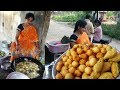 Telugu Husband Wife Selling Evening Snacks @ 10 rs Only | Indian Street Food