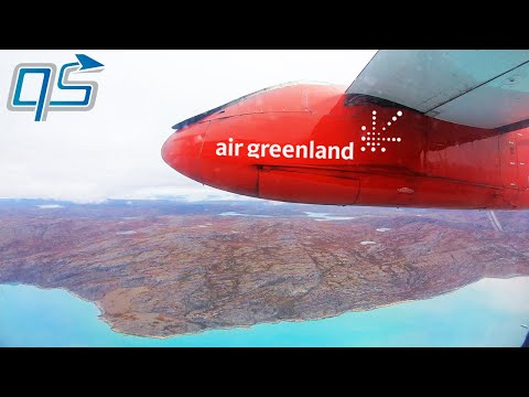 FULL FLIGHT | Air Greenland - Dash 8 200 - Nuuk (GOH) To Kangerlussuaq (SFJ)
