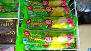 Paddle Pop Monkey Banana Pinkfong🍦Eskrim Rasa Vanila Dilapisi Jelly Kenyal Rasa Anggur