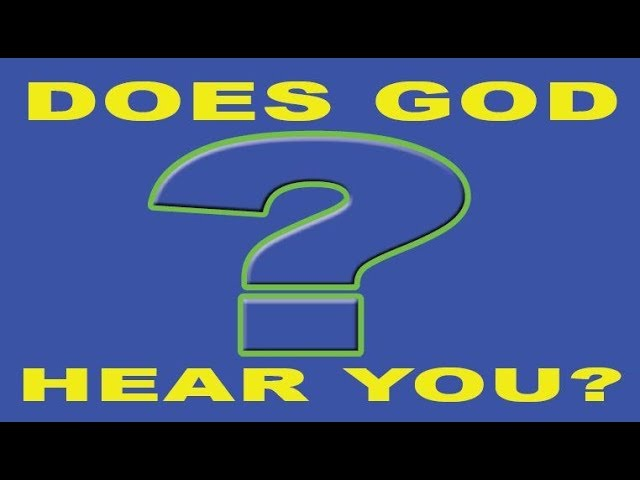 God Does NOT Hear Sinners