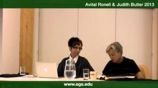 Avital Ronell and Judith Butler. Psychoanalysis, authority and discernment. 2013