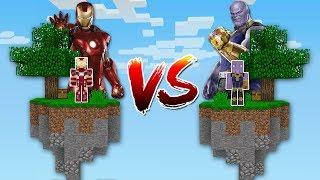 Minecraft: ILHA DO HOMEM DE FERRO VS ILHA DO THANOS! QUEM VENCE?