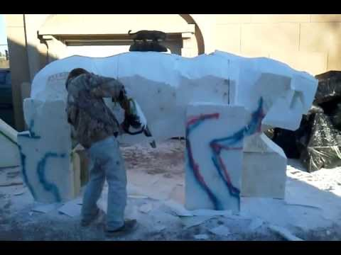 Chain saw carving foam Saber-Tooth Cat