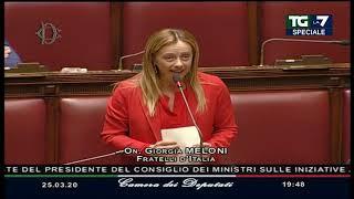 """Coronavirus, Giorgia Meloni Contro L'europa: """"aspetta Il Terremoto In Casa Nostra Per Fregarci ..."""