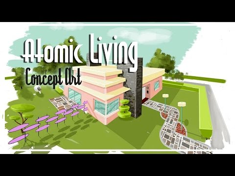 The Sims 4 Speed Build - [Atomic Living] TS2 Concept Art