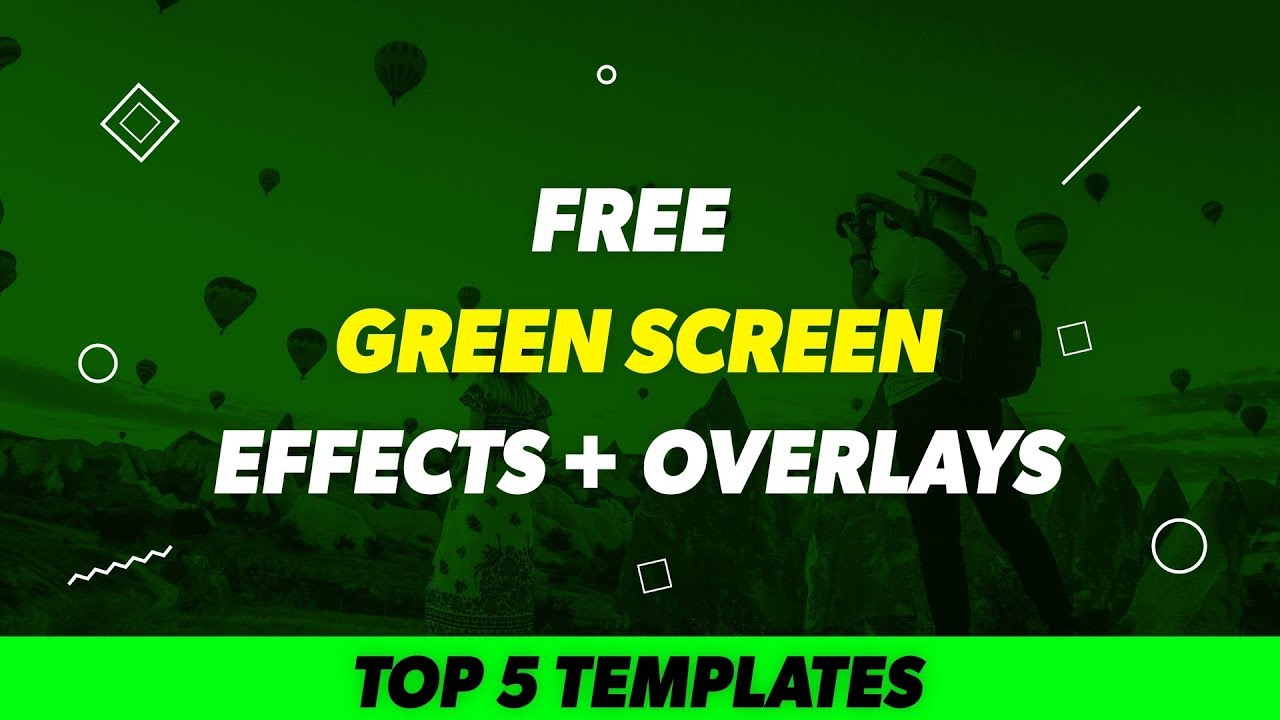 Top 5 FREE Green Screen Overlay Effects - Kinemaster, After Effects,  Premiere Pro, Blender, Mobile