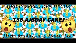 Speed Decorate Birthday Den Animal Jam! Happy 8th Birthday!!! OVER 100 CAKES!