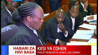 It\'s a battle between Murgor and Ombeta and right in the middle are Sarah Wairimu and the late Cohen