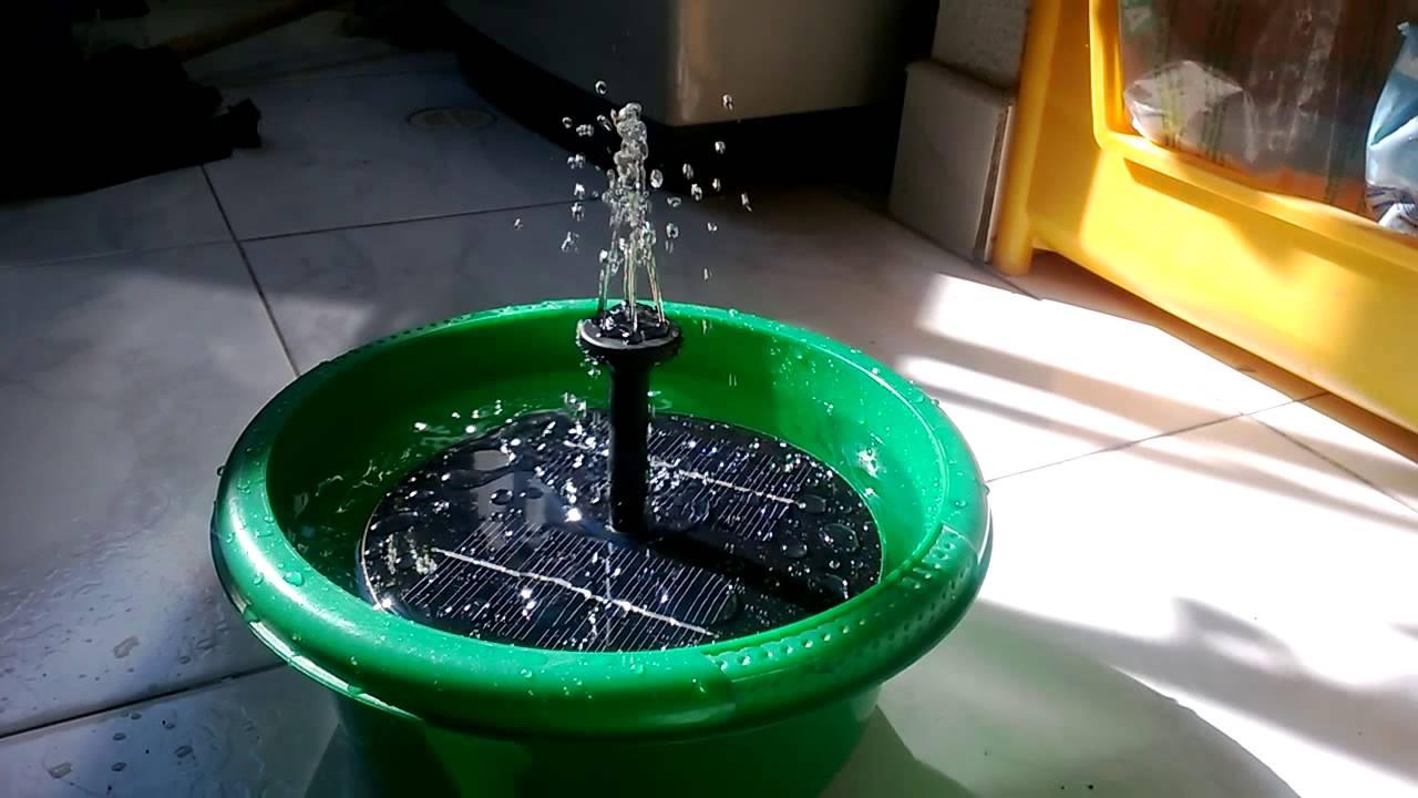 Fuente de agua solar youtube - Motor de fuente de agua ...