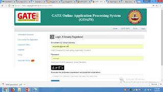 gate 2019 registration payment process/ gate form filling process/ application fee.