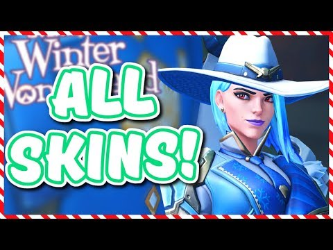 Overwatch - ALL 2018 WINTER WONDERLAND SKINS AND ITEMS