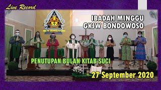 IBADAH MINGGU 27 SEPTEMBER 2020 | GKJW BONDOWOSO | Live Recording