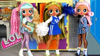 LOL Doll Family High School Morning Routine - Barbie Cheerleaders & Hospital Pretend Play