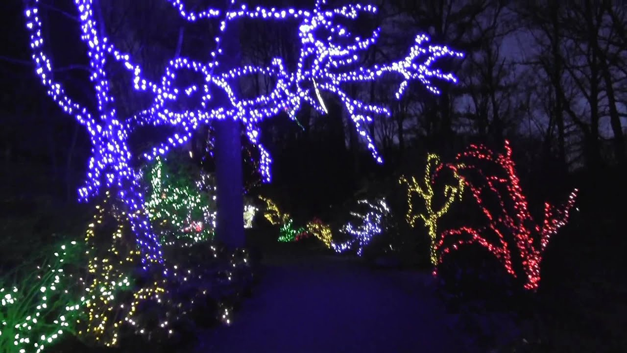festival of lights at brookside gardens youtube