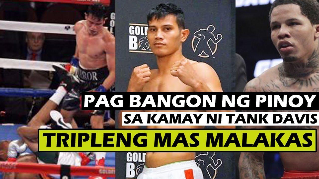 TRIPLENG MAS MALAKAS na pag bangon ng Pinoy sa kamay ni TANK DAVIS | Ginulantang ang GOLDEN BOY