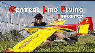 Control Line Airplane Flying Explanation