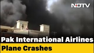 Pia Flight With 99 On Board Crashes In Karachi Minute Before Landing