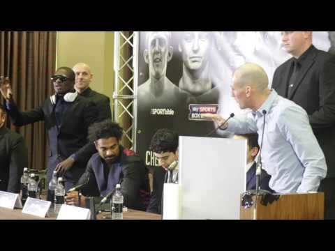 WHAT A FU***%NG GOBSHITE! -DERRY MATHEWS & OHARA DAVIES EXCHANGE WORDS DURING CRAZY PRESS CONFERENCE