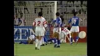 アブドゥル・ラザクのファインゴールと澤登同点弾 UAE vs JPN  1994W杯アジア一次予選