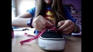 nacionalismo corto Fascinante  Como colocar cordones rectos a unas Vans. - YouTube